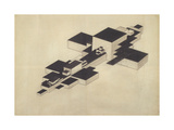 Design for Supremolet (Suprematist Plan) Giclée-trykk av Ilya Grigoryevich Chashnik