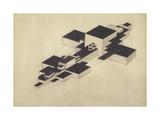 Design for Supremolet (Suprematist Plan) Giclee Print by Ilya Grigoryevich Chashnik
