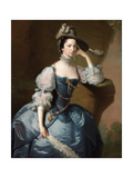 Portrait of Margaret, Lady Oxenden, C. 1755 Giclee Print by Thomas Hudson