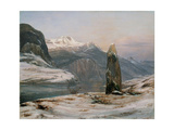 Winter at the Sognefjord Giclee Print by Johan Christian Clausen Dahl