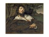 The Wounded Man (L'Homme Bless) Reproduction procédé giclée par Gustave Courbet