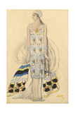 Costume Design for Ida Rubinstein in the Drama Phaedra (Phèdr) by Jean Racine Giclee Print by Léon Bakst