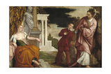 Young Man Between Virtue and Vice Giclee Print by Paolo Veronese