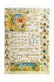 Leaf from Antiphonary for Elisabeth Von Gemmingen, C. 1504 Giclee Print