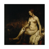 Bathsheba at Her Bath (Bathsheba with King David's Lette) Giclee Print by  Rembrandt van Rijn