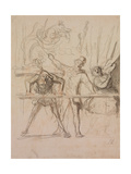 The Side-Show Giclee Print by Honoré Daumier