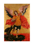 The Archangel Michael, Second Half of the 17th C Giclée-tryk af Theodore Poulakis