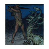 Hercules and Hydra Giclee Print by Franz Ritter von Stuck