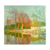 Chestnut Tree in the Evening Sun Giclee Print