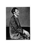 Portrait of the Poet Osip Mandelstam (1891-193) Giclee Print by Anna Mikhaylovna Zelmanova-Tchudovskaya