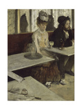 In a Café (Absinth), 1873 Giclee Print by Edgar Degas