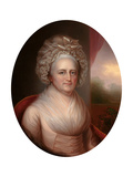 Portrait of Martha Washington (1731-180) Giclee Print by Rembrandt Peale