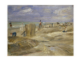 Beach at Noordwijk Giclee Print by Max Liebermann