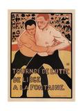 Wrestling Tournament, Liège, 1899 Giclee Print