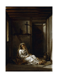 Saint Thaïs in Her Cell Giclee Print by Antoine Coypel