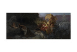 The Temptation of Saint Jerome Impression giclée par Henryk Siemiradzki