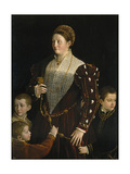 Portrait of Camilla Gonzaga Di San Secondo and Her Three Sons Giclee Print by  Parmigianino