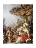 The Little Dog's Dance Giclee Print by François Boucher