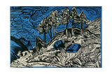 Trees on a Mountain Slope Giclee Print by Ernst Ludwig Kirchner