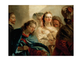 Christ and the Woman Taken in Adultery Giclee Print by Giambattista Tiepolo
