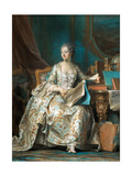 Portrait of the Marquise De Pompadour (1721-176) Giclee Print by Maurice Quentin de La Tour