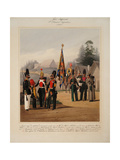 Soldiers of the 2st Guards Infantry Division of the Russian Imperial Guard, 1867 Giclee Print by Karl Karlovich Piratsky