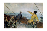 Leiv Eiriksson Discovers America Giclee Print by Christian Krohg