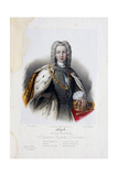 Portrait of the Tsar Peter II of Russia (1715-173) Giclee Print by Pyotr Fyodorovich Borel