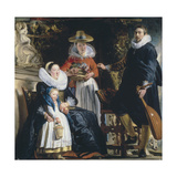 The Painter's Family Giclee-trykk av Jacob Jordaens