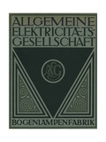 Title Page of an Aeg Product Brochure Giclee Print by Peter Behrens