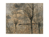 Flood of the Seine at Vétheuil Giclee Print by Claude Monet