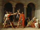 The Oath of the Horatii Gicléetryck av Jacques Louis David