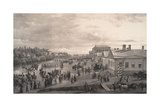 Parade of Chevalier Gardes Through Krasnoye Selo, 1848 Giclee Print by Gustav Schwarz
