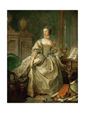 Portrait of the Marquise De Pompadour (1721-176) Giclee Print by François Boucher