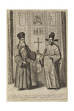 Matteo Ricci and Xu Guangqi (From Athanasius Kircher's China Illustrat), 1667 Giclee Print by Athanasius Kircher