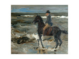 Rider on the Beach Giclee Print by Max Liebermann