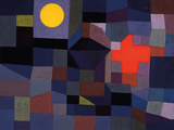 Fire at Full Moon Giclée-tryk af Paul Klee