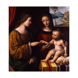 The Mystical Marriage of Saint Catherine, C. 1520 Giclee Print by Bernardino Luini