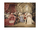 The Banquet of Henry VIII in York Place Giclee Print by James Stephanoff