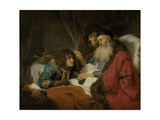 Isaac Blessing Jacob, 1638 Giclee Print by Govaert Flinck