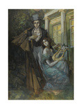 Pushkin and the Muse Giclee Print by Konstantin Alexeyevich Korovin