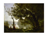 Recollection of Mortefontaine Giclee Print by Jean-Baptiste Camille Corot