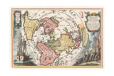 World Map with Magellan's Circumnavigation, 1702-1703 Giclee Print by Heinrich Scherer