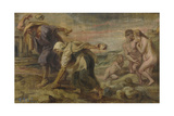 Deucalion and Pyrrha, Ca 1636 Giclee Print by Pieter Paul Rubens