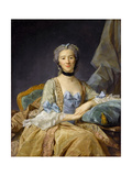 Madame De Sorquainville Giclee Print by Jean-Baptiste Perronneau