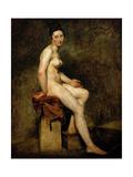 Mademoiselle Rose (Seated Nude) Reproduction procédé giclée par Eugène Delacroix