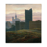 The Royal Castle of Cheb Giclee Print by Carl Gustav Carus