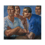 The Workers Giclee Print by Kuzma Sergeyevich Petrov-Vodkin