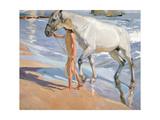 Bathing of a Horse Giclee Print by Joaquín Sorolla y Bastida