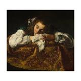 Sleeping Girl Giclée-tryk af Domenico Fetti